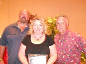 Tricha, Matt and Mac Archer (Avalon Rep) dealer meeting