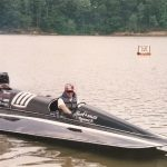 Todd in the Hank's Sales Raceboat
