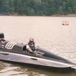 Todd in the Hank's Sales Raceboat