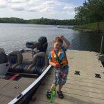 Xander fishing