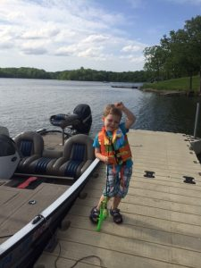 Xander fishing