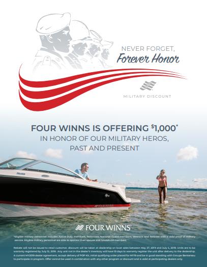Four Winns Military Discount 2019