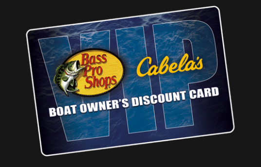 VIP Discount Card for Bass Pro & Cabela's